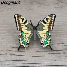 K872 Butterfly Cartoon Metal Enamel Pins and Brooches for Lapel Pin Backpack Bags Badge Collection Gifts 5pcs thailand metal lapel pin badge enamel front and butterfly clip collar pin