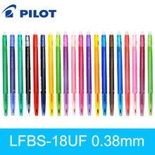 1 pçs japão piloto frixion caneta gel apagável fino caneta bola ponto LFBS-18UF 0.38mm 20 cor disponível