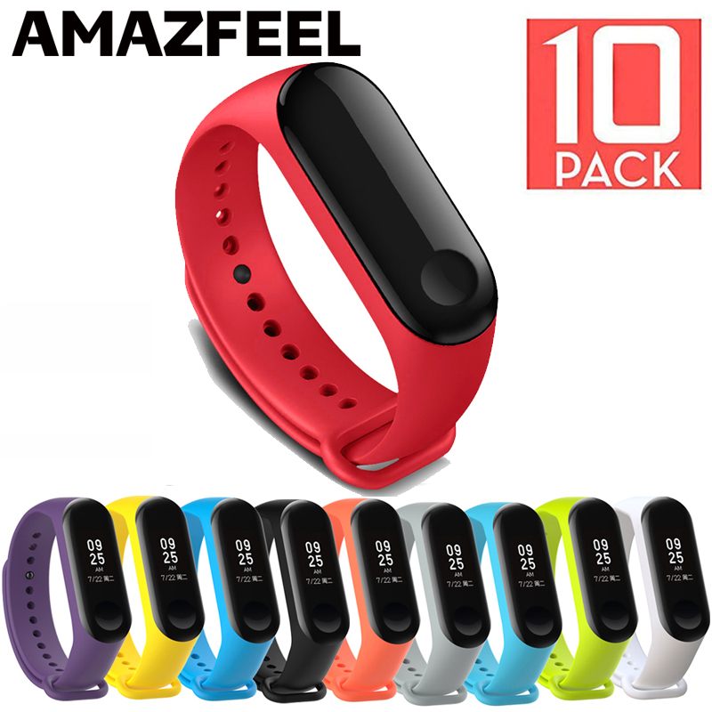 10Pcs Pack For Mi band 5 Bracelet Strap For Xiaomi MiBand 5 3 4 Wrist Strap Silicone For Xiaomi Miband 5 Bracelets Accessories