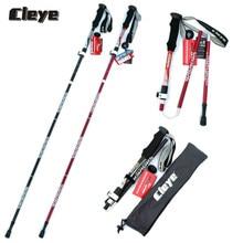 2 Pcs Professional Foldable Trekking Poles Retractable External Lock Batons 7075 Lightweight Walking Sticks Nordic Hiking Canes