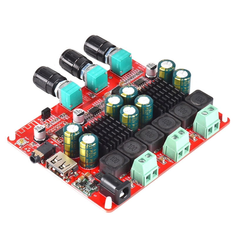 Tpa3116D2 4.2 Bluetooth 2.1 Channel Stereo Digital Audio Amplifiers Board 50Wx2+100W Fm Radio Usb Mp3 Play image