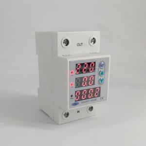 Image 5 - 63A 230 فولت 3IN1 عرض Din السكك الحديدية قابل للتعديل أكثر وتحت الجهد جهاز حماية حامي التتابع مع أكثر من الحماية الحالية
