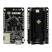 LILYGO® TTGO T OI ESP8266 Chip Rechargeable 16340 Battery Holder And T OI WS2812 RGB Expansion Board