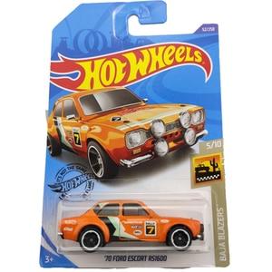 2020-52 Hot Wheels 1:64 Car 70 FORD ESCORT RS1600 Metal Diecast Model Car Kids Toys Gift