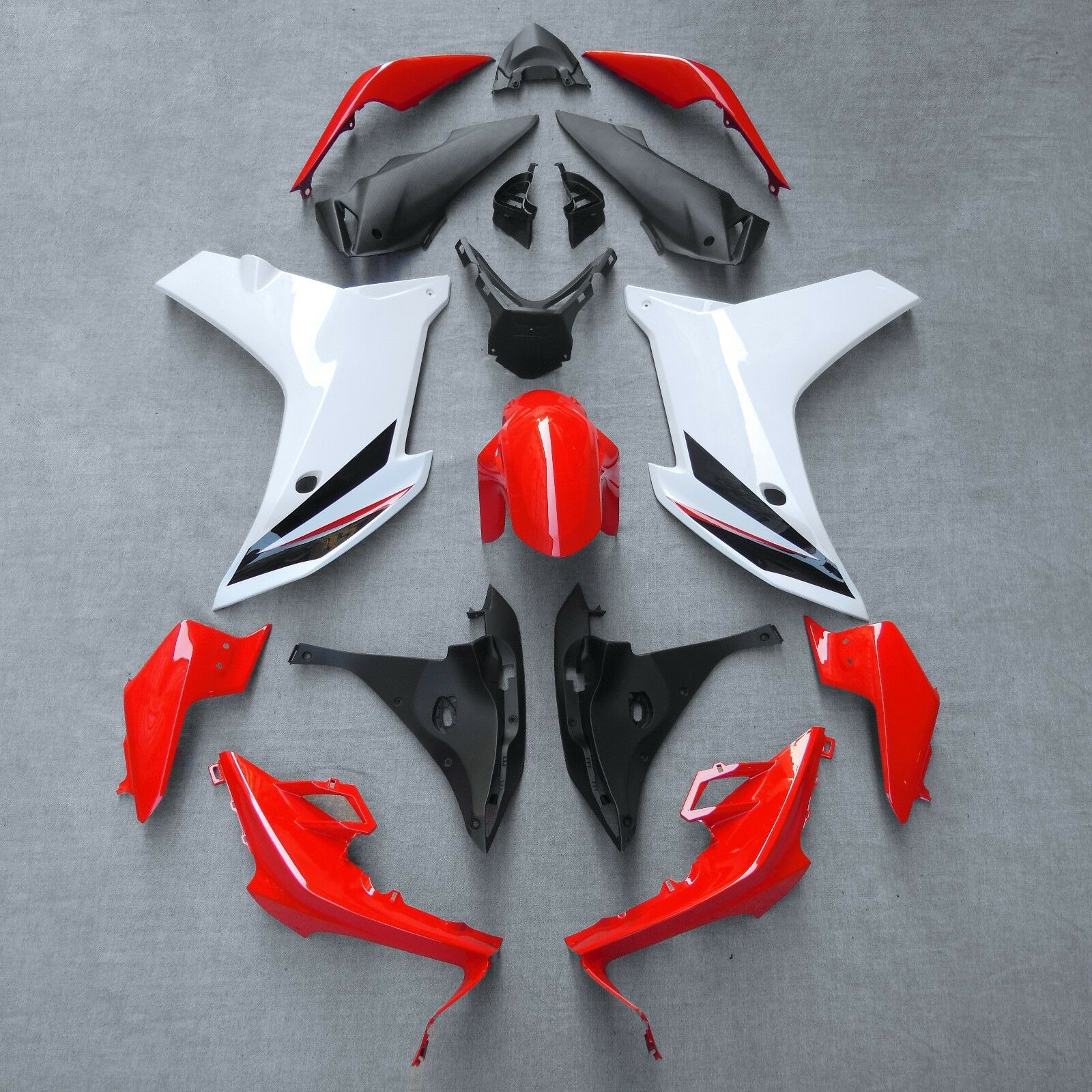 All new fairing kit for Honda CBR600F 2011 2012 2013 2014 red white CBR 600F 11 12 13 14 model injection ABS fairings set image