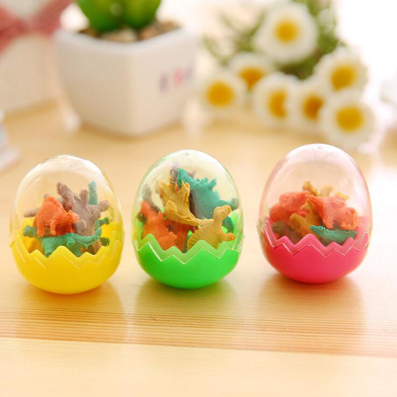 Student Eraser Lovely Rubber Cartoon Style Dinosaur Eggs Eraser Creative For Children Funny Korean Stationery School Supplies