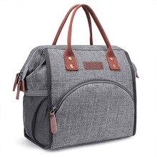 Оксфордская вместительная сумка для ланча, изолированная Холщовая Сумка для корма, Термосумка для пикника, женская сумка для ланча, Термосумка W405