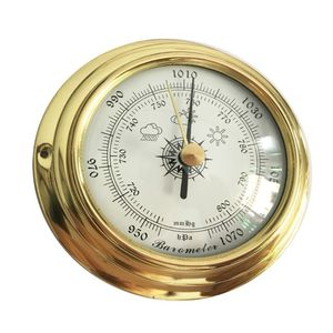 Image 3 - 4 Inches 4 PCS/set Thermometer Hygrometer Barometer Watches Clock Copper Shell Zirconium Marine for Weather Station