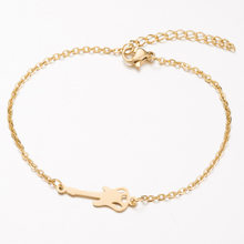 bracelets for women stainless steel adjustable bracelet couple charms women's accessories gold ladies guitar bracelets chain(China)