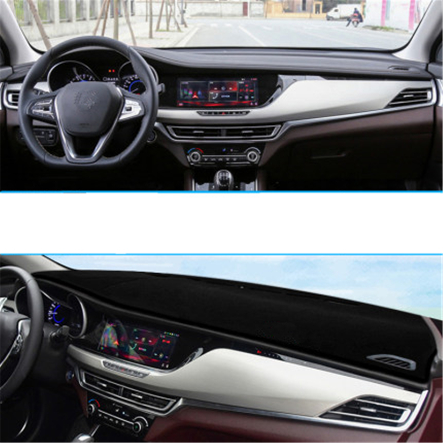 Black Car Dashboard Cover Dash Mat For Changan CS35Plus(2018-2019)Auto Sun Shade Pad Carpet Protector