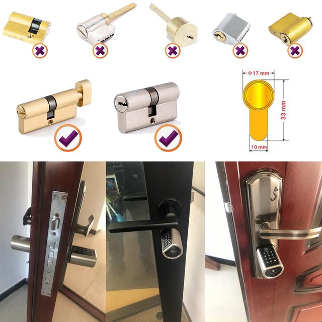 DIY Replacement Smart Door Lock Cylinder Support Mobile Phone APP TT lock Bluetooth 13.56mhz IC Card Digital Unlock
