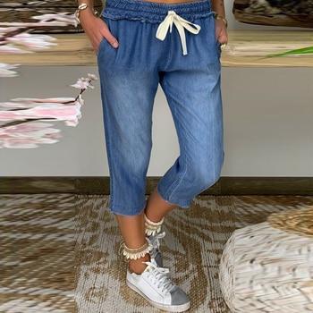 Straight Harem Jeans Women Vintage Mom Mid Waist Jeans Retro Boyfriend Jeans Street Blue 2020 Denim Pants distressed denim D30