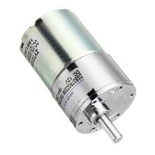 ZGB37RG DC12V 200RPM 6mm Shaft Diameter Cylindrical Permanent Magnet Reduction Gear Motor DIY Robot Micro Metal Gear Motor zgx50rhh dc12v 150rpm 12mm shaft 50mm permanent magnet planetary motor brush