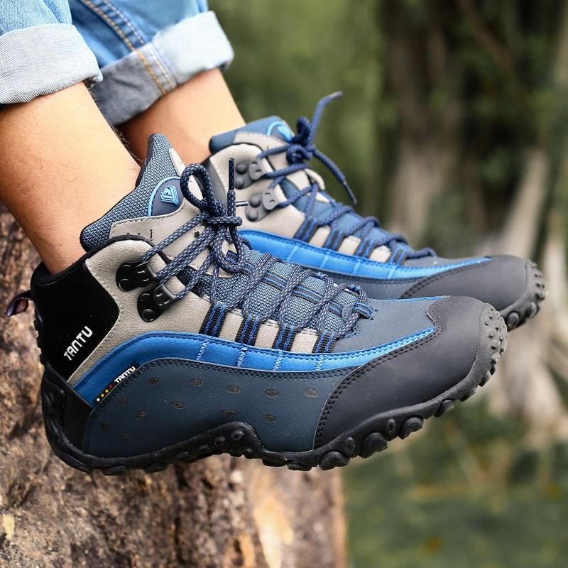 Men Hiking Shoes Waterproof Breathable