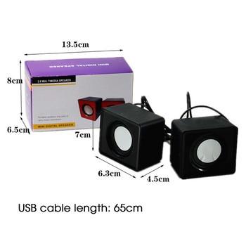 Kebidumei Mini Music Loudspeaker USB 2.0 Stereo Speakers for PC Laptop Notebook Computer Desktop Home Theater Party 2
