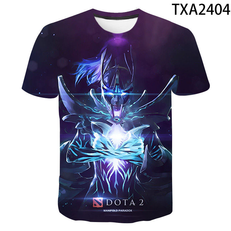 2020 Men Women Children Dota 2 T Shirt Moba Game 3D Printed Tee Summer Short Sleeved Tops Cool Boy Girl Kids Streetwear T-shirt