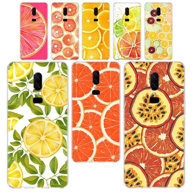 INS fruit lemon orange Smart Phone <font><b>Case</b></font> For <font><b>OnePlus</b></font> 3 3T 5 5T 6 <font><b>6T</b></font> 7 7 Pro 7T 7T Pro Soft Silicagel TPU Phone <font><b>Case</b></font> Cover image