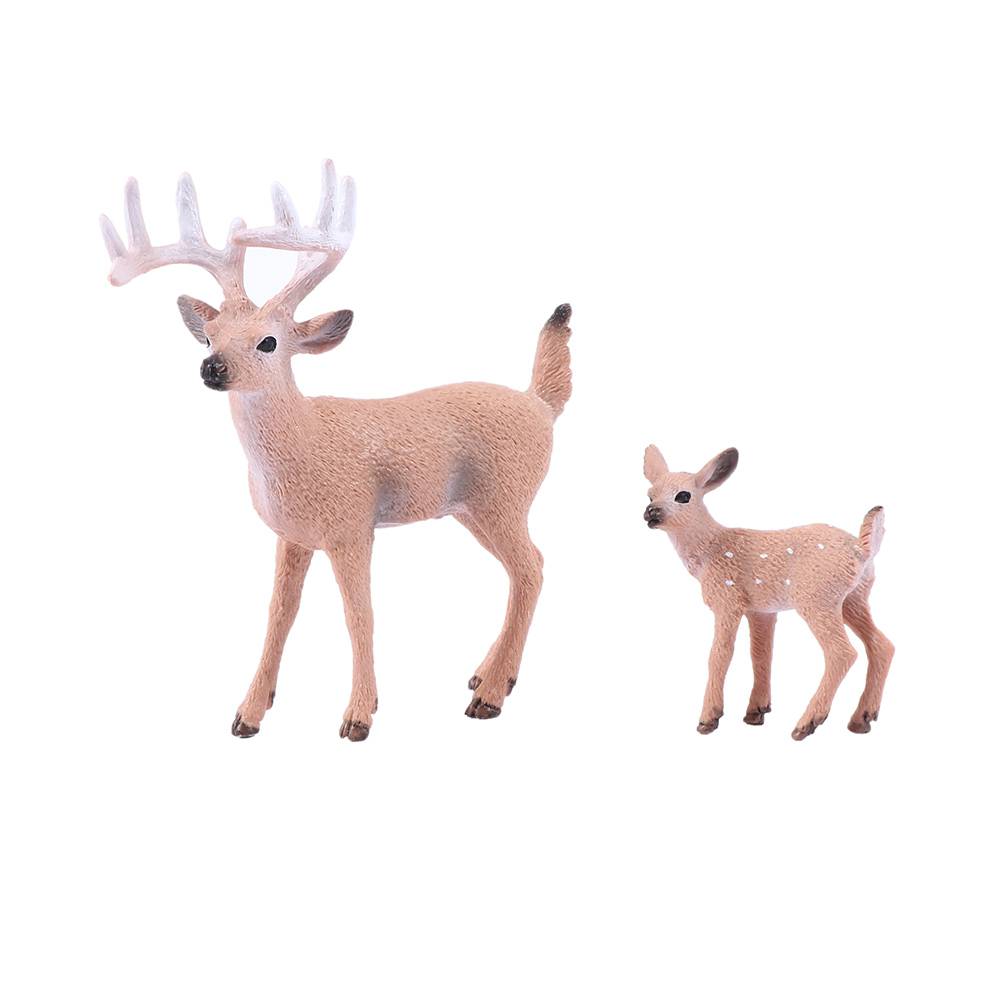 1 Pcs Mini Christmas Deer Miniatures Figurines Toys Simulated Animal Model Fairy Garden Home Decoration Doll