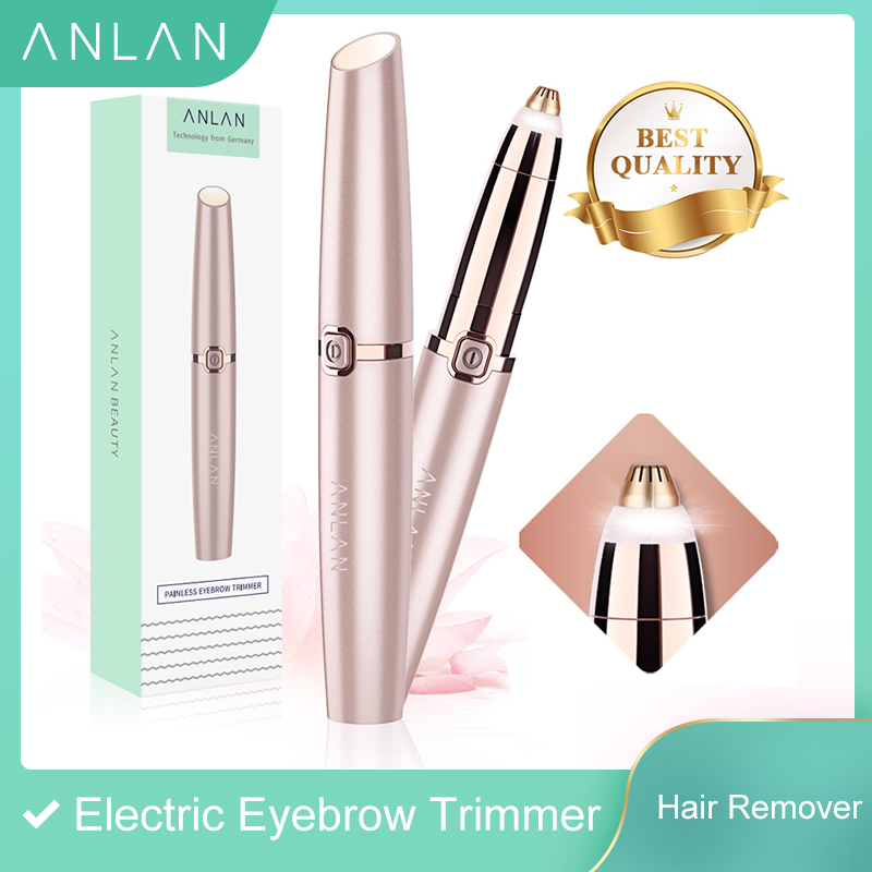 ANLAN Electric Eyebrow Trimmer Makeup Painless Eye Brow Epilator Mini Shaver Razors Portable Facial