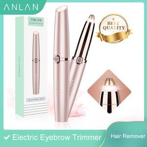 ANLAN Electric Eyebrow Trimmer Makeup Painless Eye Brow Epilator Mini Shaver Razors Portable Facial Hair Remover Women depilator(China)