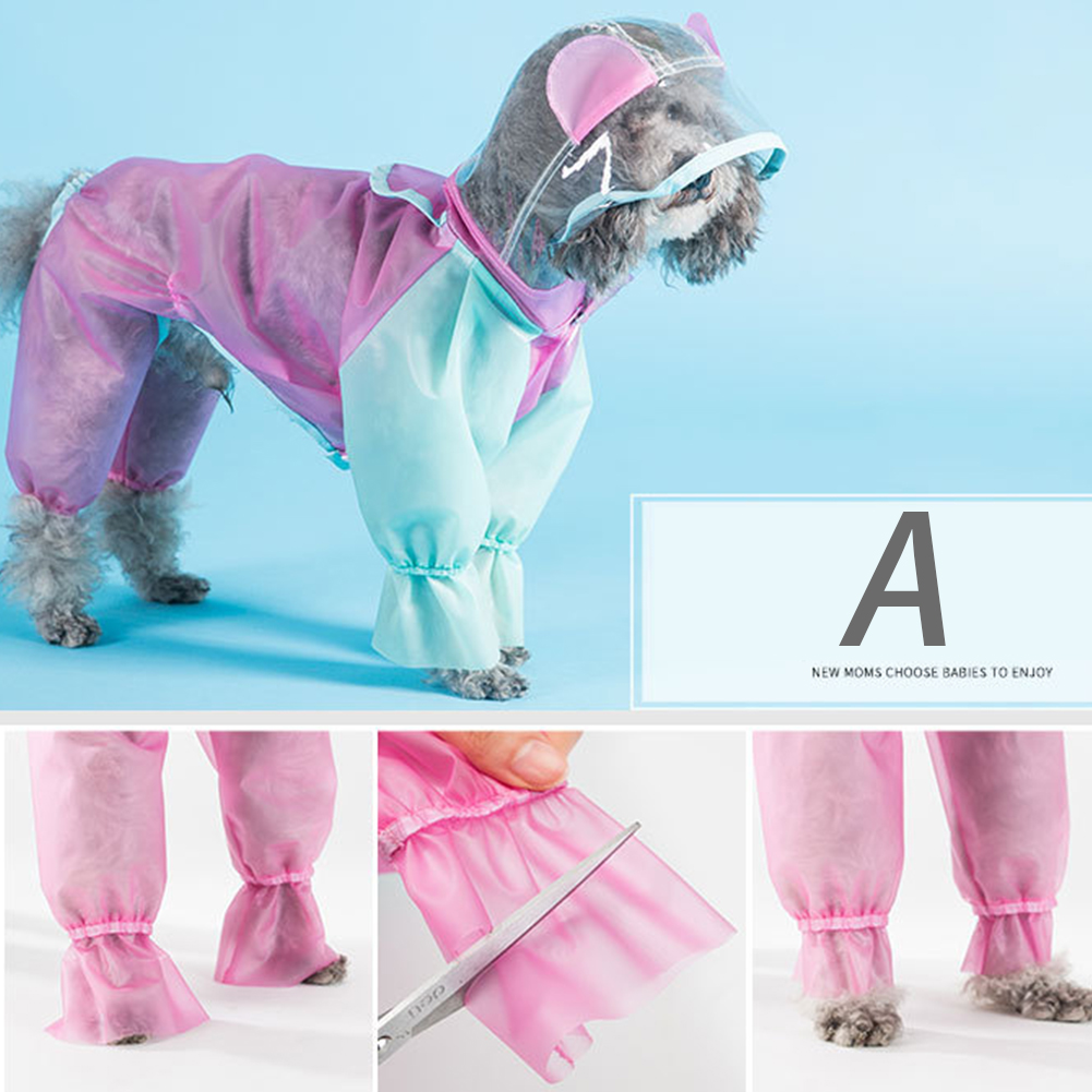Pet Supplies Wide Hat Brim Eco Friendly Four Leg Spring Fashion Durable TPU Waterproof Costume Summer DIY Cut Dog Raincoat