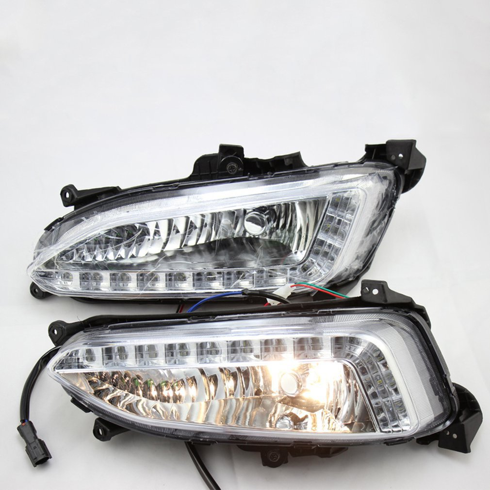 2Pcs LED DRL Daytime Running Light Fog Lamp For Hyundai IX45 For Santa Fe Durable Daytime Light Lamp