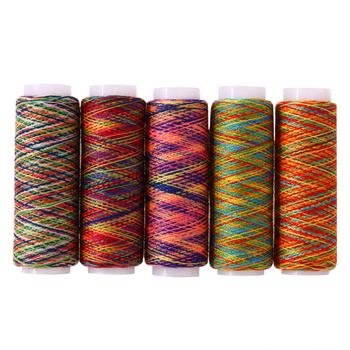 5 sztuk partia Rainbow kolor nici do szycia ręcznie pikowania haft nici do szycia robótki włókna przędzy narzędzie ręczne akcesoria do szycia tanie i dobre opinie CN (pochodzenie) BARWIONE Poliester Bawełna Żyłka Przyjazne dla środowiska As picture shown Polyester fiber 5pcs approx 5cm 1 96in