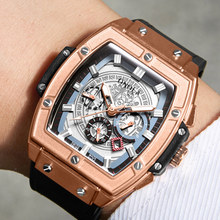 ONOLA mechanical watch for man top luxury brand lumious tonneau square big dial
