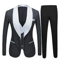 Men Vintage Three piece suit Hot spring men's latest custom design suit groom wedding suit Night Club Singers Prom Party