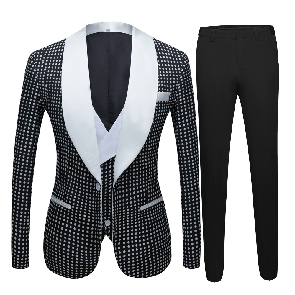 Men Vintage Three Piece Suit Hot Spring Men's Latest Custom Design Suit Groom Wedding Suit  Night Club Singers Prom Party