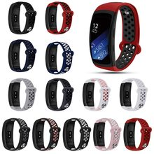 Heang transpirable suave silicona reemplazo Correa deportiva para Samsung Gear Fit2 Pro R365 y ajuste 2 R360(China)