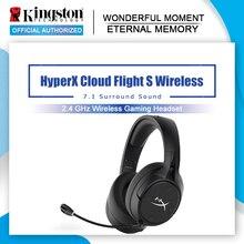 קינגסטון HyperX ענן טיסה S אלחוטי אוזניות משחקי 7.1 סראונד 2.4GHz אלחוטי אודיו HyperX NGENUITY תוכנה