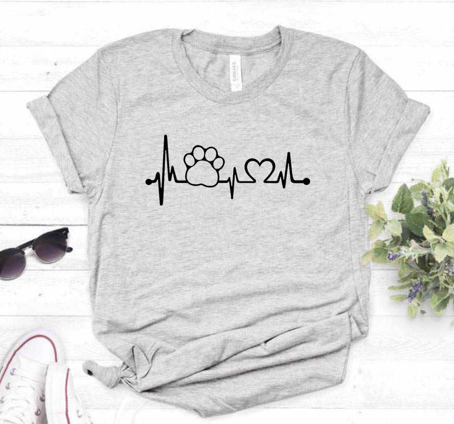 Pençe Kalp Atışı Can Simidi köpek kedi Kadın tişört Pamuk Rahat Komik t shirt Bayan Kız Üst Tee Hipster 6 Renkler bırak Gemi Z-1104