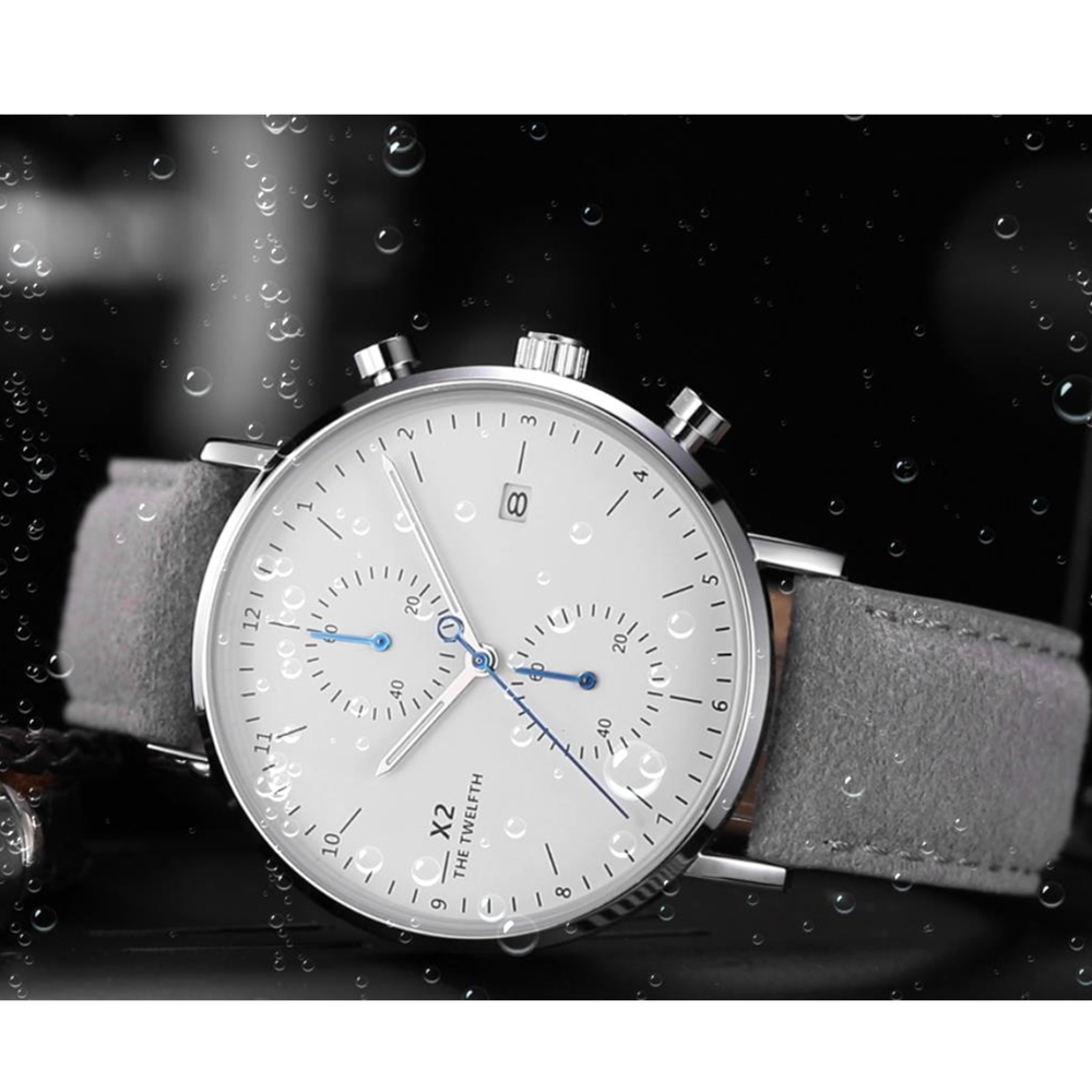 2019 Men Watch X2 THE TWELFTH Brand Fashion Sports Quartz Watches Mens Leather Waterproof Chronograph Clock Business Relogio