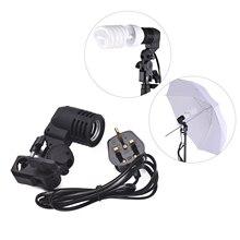 E27 Bulb Holder Socket video Flash Swivel Bracket Photo Studio Light Photography Lamp Mount