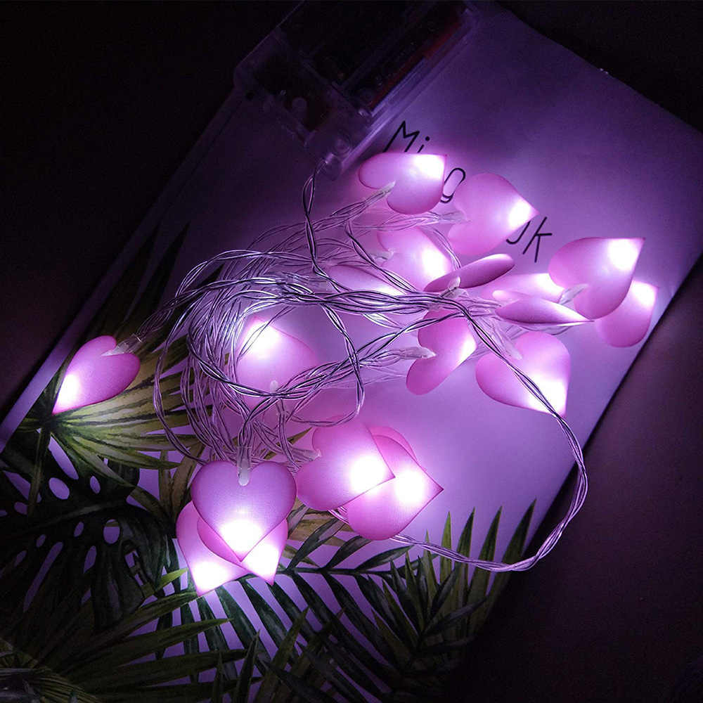 1 5m Led Fairy String Love Heart Garland Lighting Bedroom Wall Lamp Wedding Lights Lantern Romantic Event Party Garden Led String Aliexpress