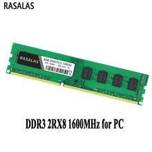 Rasalas 8 GB 2Rx8 PC3-12800U DDR3 1600Mhz 1,5V DDR3L 1.35V 240Pin 8 GB GEEN-Ecc DIMM desktop PC RAM Volledig compatibel Geheugen