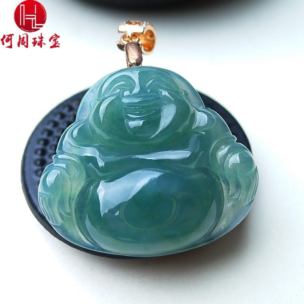Hezhou jewelry!Myanmar natural jade!Exquisite hand carving!The Buddha pendant!Exquisite workmanship! 7.39g 1