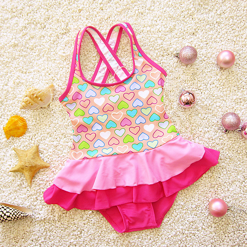 Cross-Strap Students Medium And Small Baby GIRL'S Cute Dress-Infants Triangular CHILDREN'S Swimwear