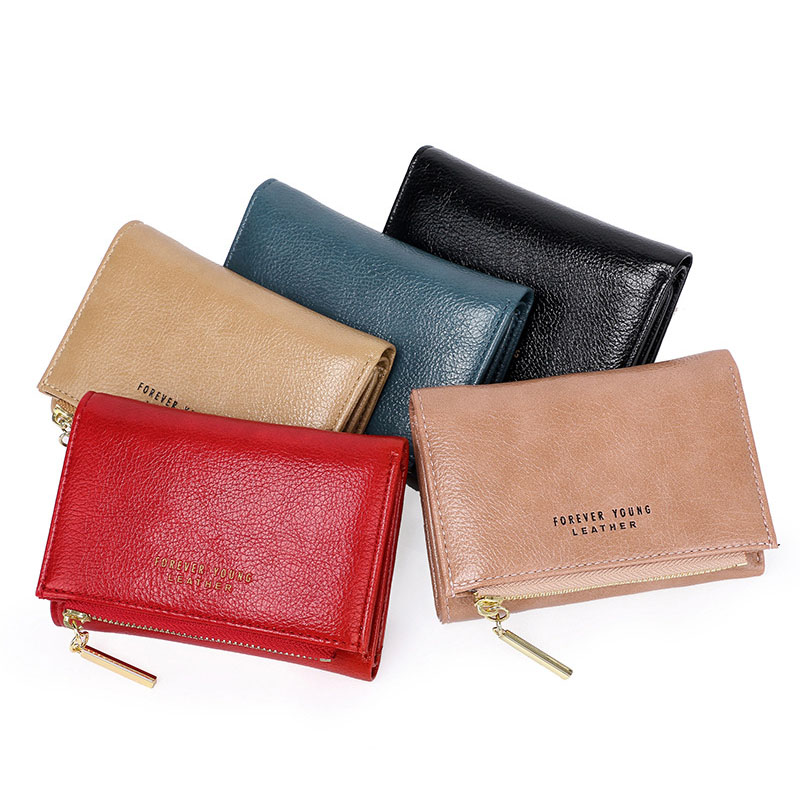 New Women's Pu Leather Wallet Fashion Short Multifunction Multi-card Coin Purses Female Solid Color Wallet Women Purses Clutch