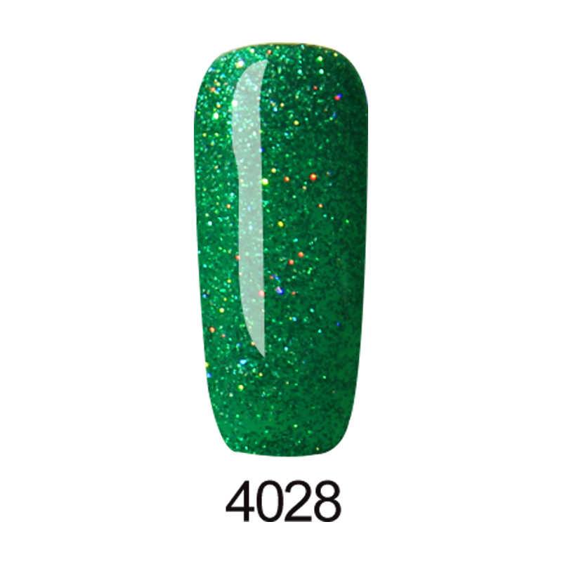 Huration yeni renkli 5ml gökkuşağı holografik tırnak jeli lehçe Neon yanıp sönen parlayan Glitter manikür batırılmış UV LED vernik