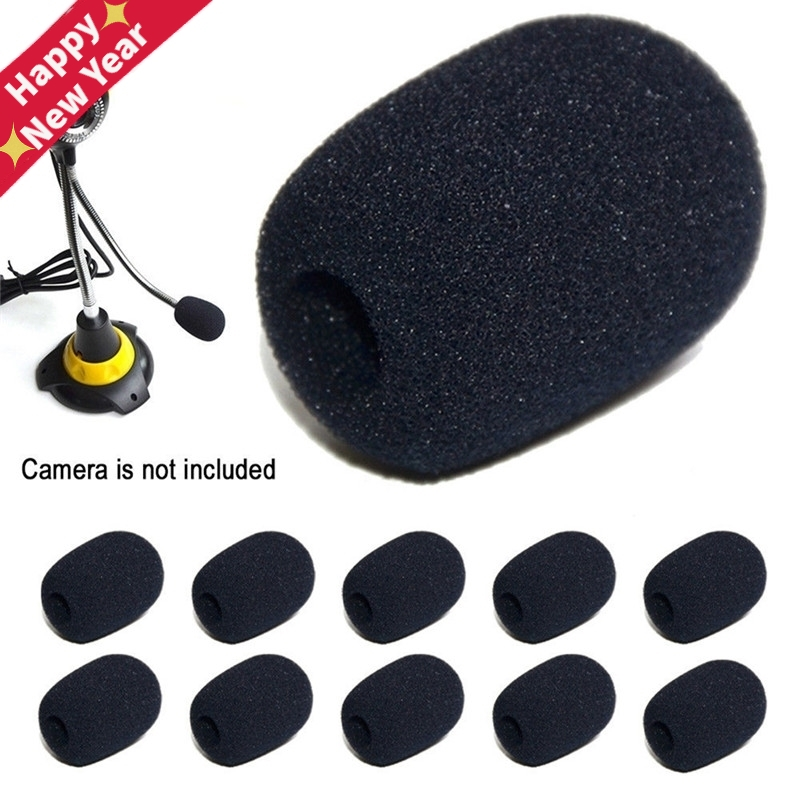 5Pcs Headset Replacement Foam Microphone Cover Telephone Headset Mic Cover Microphone Windscreen Windshied Headset Foam 30*20*8
