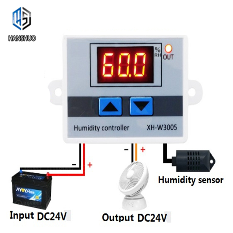 XH-W3005 12 24V 220V LED Digital Humidity Controller Hygrometer Switch Sensor