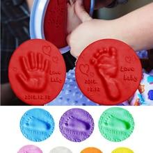 Kids Toys Inkpad Footprint-Imprint-Kit Soft-Clay Hand Baby Care Casting Fingerprint Parent-Child