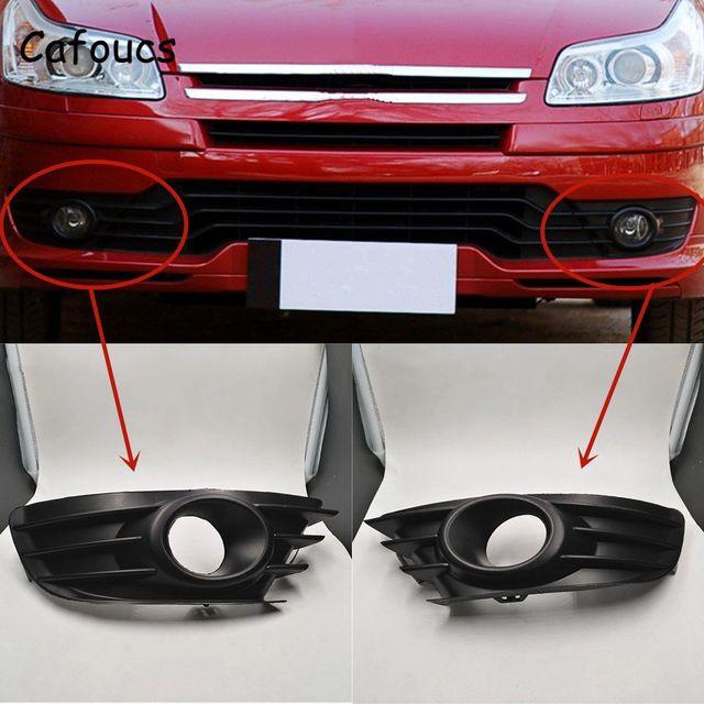 Cafoucs Car Front Fog Light Cover For Citroen C4 2004 2008 Fog Lamp Hood