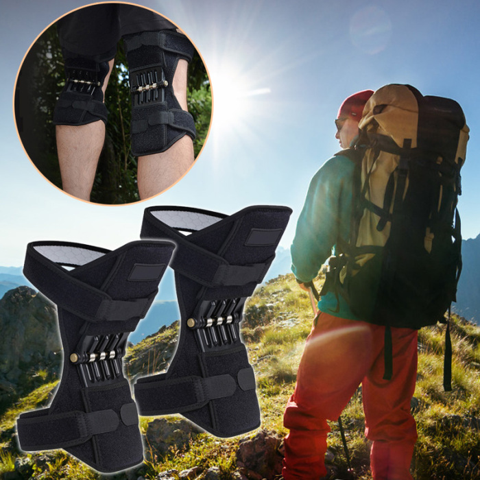 1Pair Hot Selling Patella Booster Spring Knee Brace Joint Support Knee Pads for Mountaineering Squat Hiking Sports Knee Booster