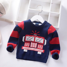 Toddler Sweater 2019 New Fashion Cotton Knit Pullover for Boys Autumn Warm Kids Sweaters Infant Tops