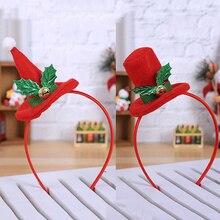 Новинка, Рождественская повязка на голову, Рождественская повязка на голову, рождественские вечерние украшения, двойная повязка на голову, застежка, обруч, Navidad