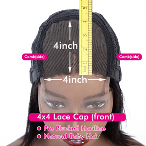 Image 5 - 13x4 Lace Front Human Hair Wigs Pre Plucked Remy Brazilian Straight 4x4 Closure Wig With Baby Hair For Women 180% Desity 30 Inch