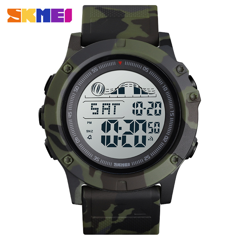 <font><b>Skmei</b></font> <font><b>1476</b></font> Brand Sports Wrist Watches Military Silicone Countdown Electronic Led Clock Waterproof Digital Men Watch montre homme image